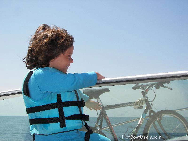 Meg enjoying the ride